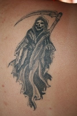 Old school death tattoo