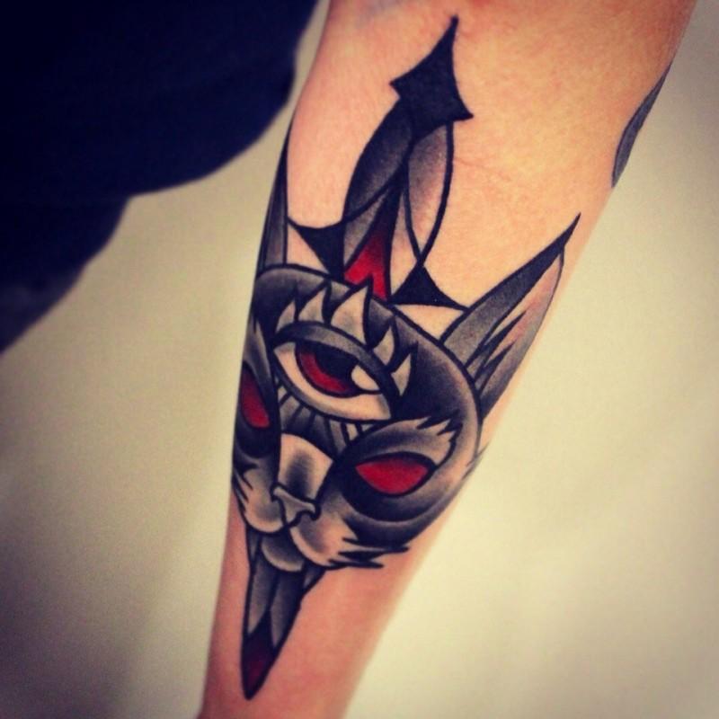 Oldschool mann tattoo unterarm Vorlagen Tattoo