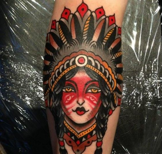 Great White Buffalo Native American Headdress Tattoo: Great Native American Pictures