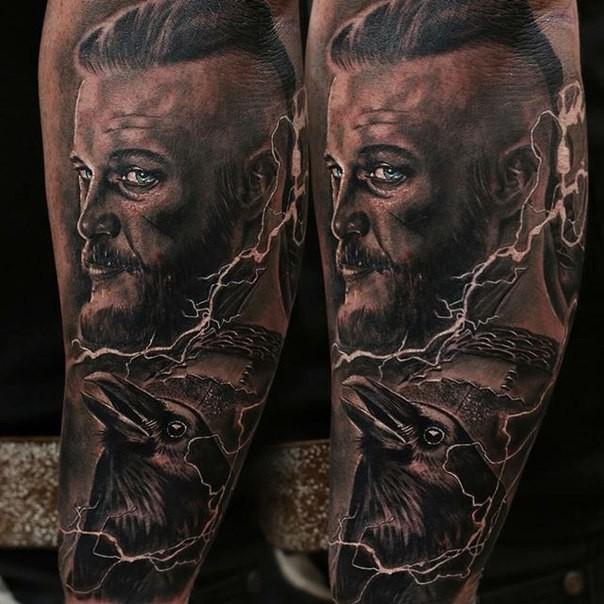Viking Shield Tattoo Design