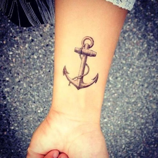 Hubsches Traditionelles Anker Tattoo An Der Hand Tattooimages Biz