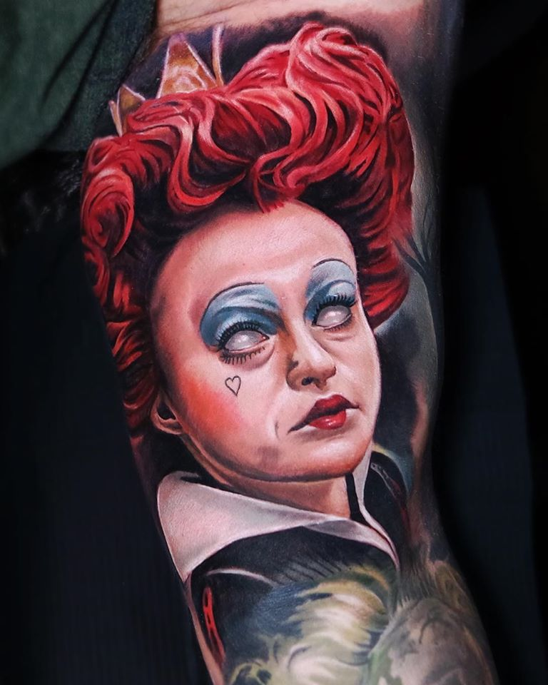 Queen of Hearts tattoo