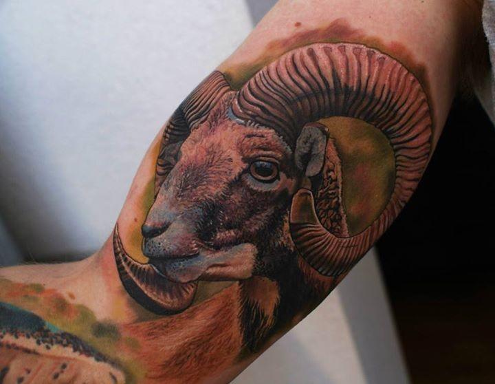 Tattoo von Rammgesicht für Männer