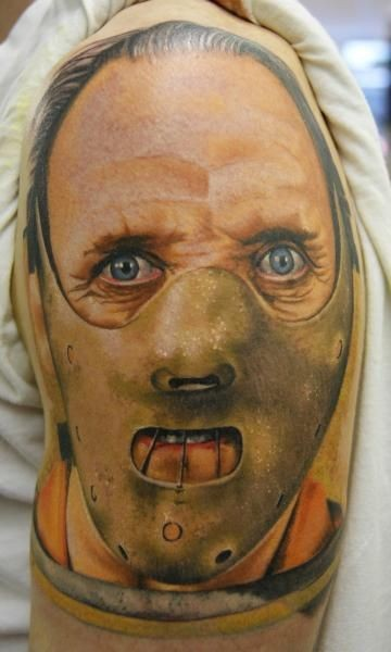 Realistic hannibal lector movie horror tattoo