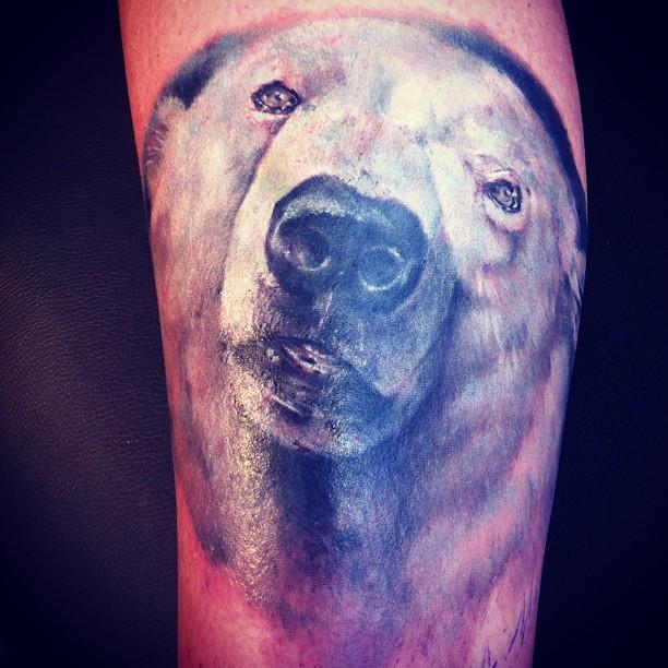 Tatuaggio la testa dell&quotorso polare