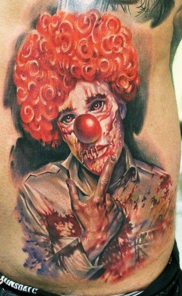 Realistic red hair clown by Zhivko Baychev