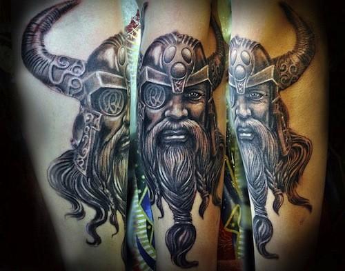 Scandinavian god thor tattoo