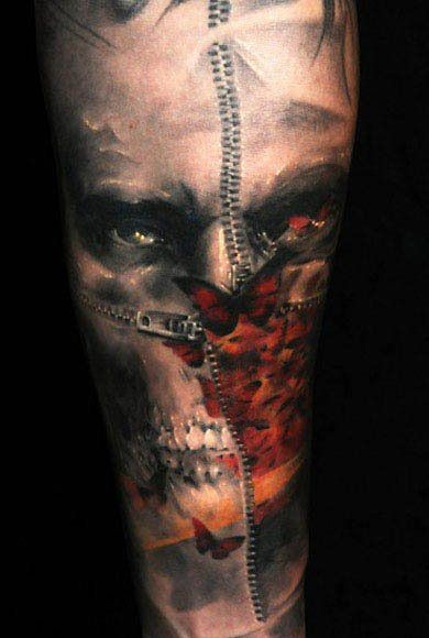 corpo orribile spaventoso tatuaggio