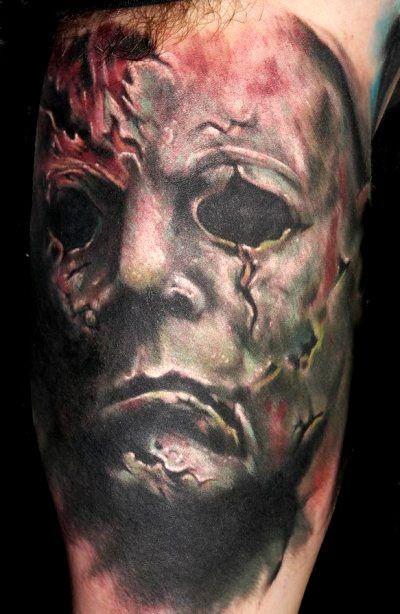 spaventoso venerdi 13 orrore  tatuaggio