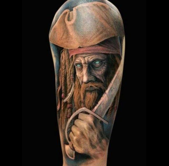 Spooky zombie pirate  tattoo by arlo dicristina