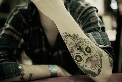 Sugar Skull Tattoos on Forearm Sugar Skull Forearm Tattoo