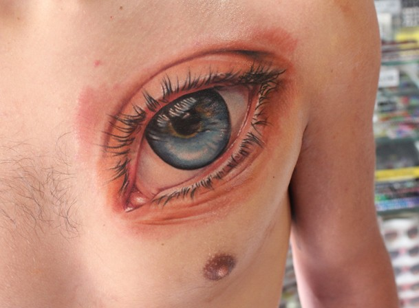 Great eye pictures for Sweet chest tattoos
