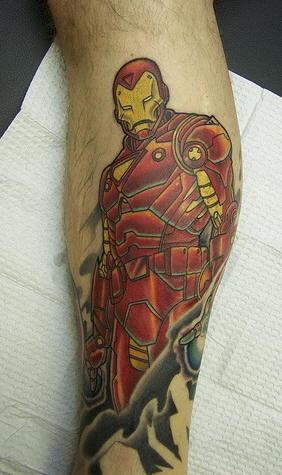 Ironman tattoo on hand