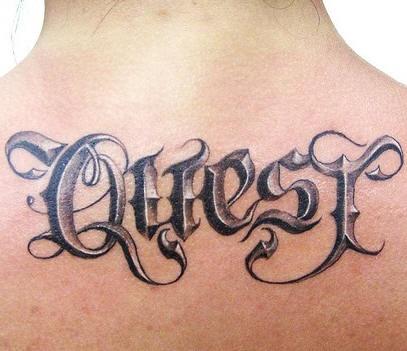 3d script tattoo
