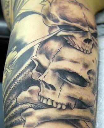 Skulls tattoo precision art