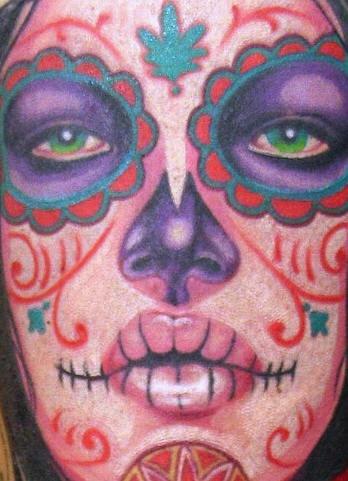 Dia de los muertos (ragazza) tatuaggio