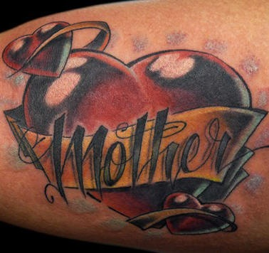 Love my mother tattoo in 3d