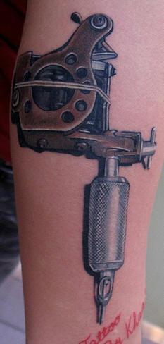 La macchina del tatuaggio in 3D