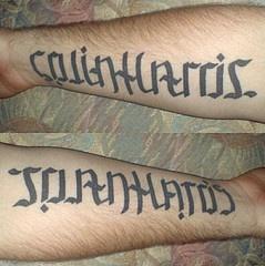 Ambigram colin harris and joan hatos