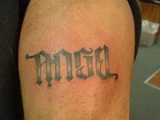 Simple ambigram tattoo