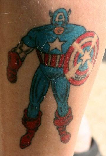 Comics captain america tattoo
