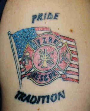 Pride tradition usa fire rescue tattoo