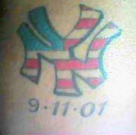 New york logo american patriotic tattoo