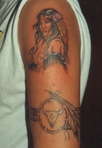 Native american naked girl tattoo