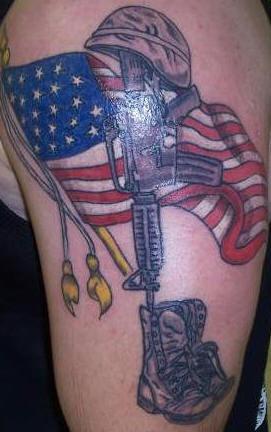 American soldier memorial tattoo
