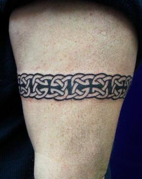Arm band black tattoo