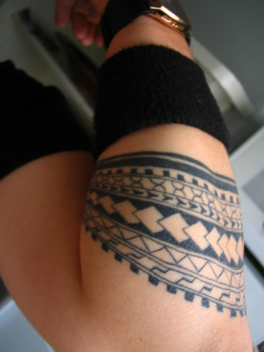 Various pattern tattoo on hand