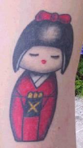 Cute asian girl tattoo