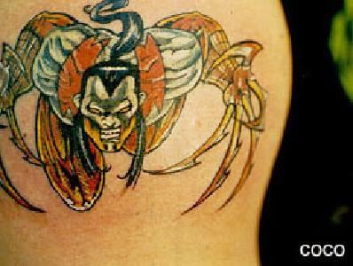 Tatuaggio ghiottone colorato