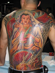 Hindu deity tattoo on whole back