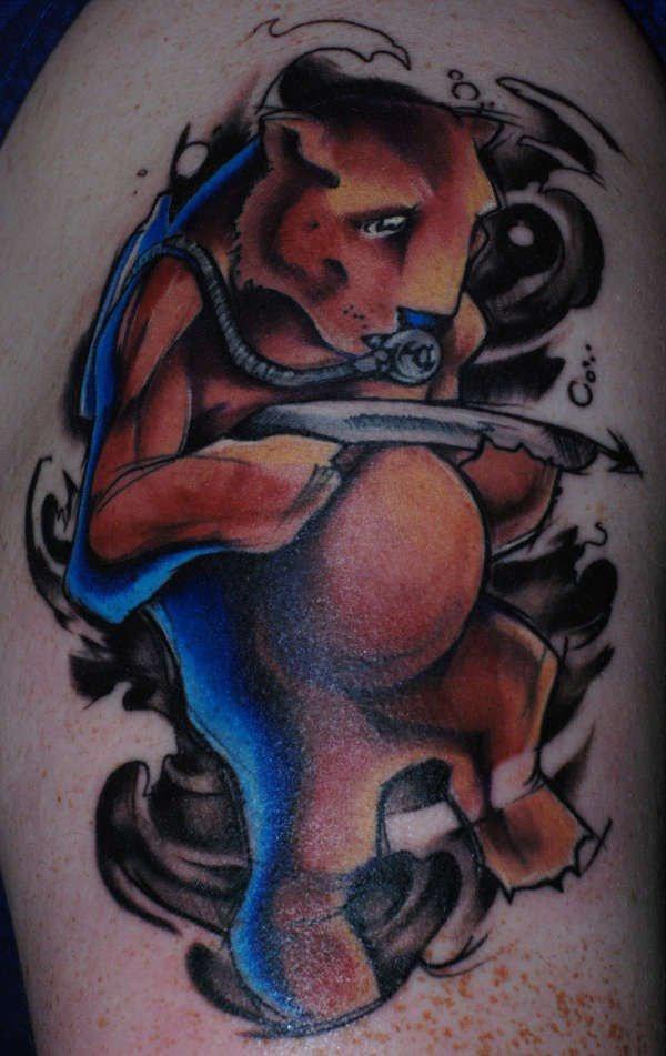 immersione orso tatuaggio