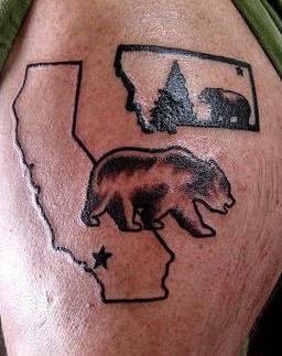 State symbol bear tattoo