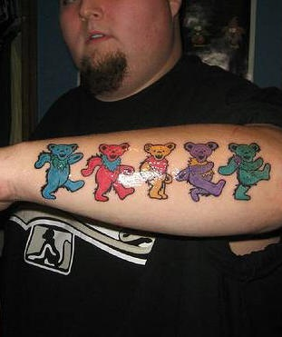 Grateful dead bears tattoo