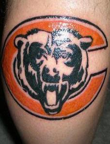 orso marchio della squadra tatuaggio