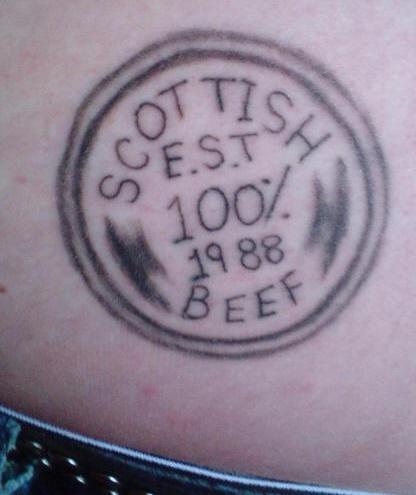 Beef butt tattoo
