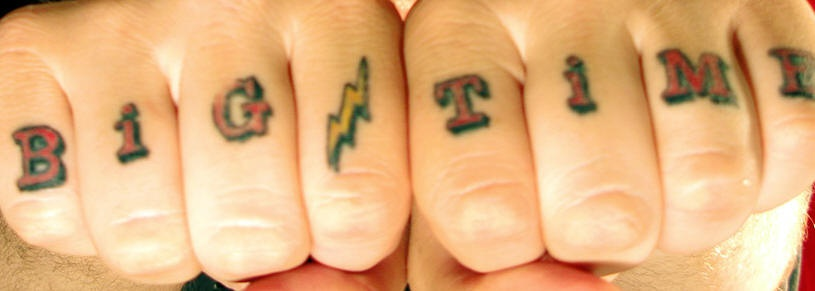 Finger tattoo, big time with lightning