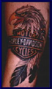 Harley davidson eagle feather tattoo