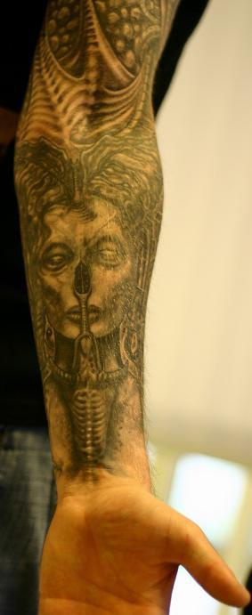 biomechanical giger tattoo - photo #25
