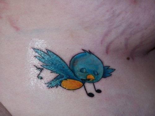Singing bird tattoo