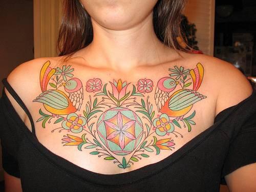 Beautiful birds pattern tattoo