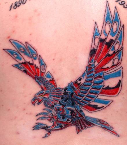 American metallic eagle tattoo