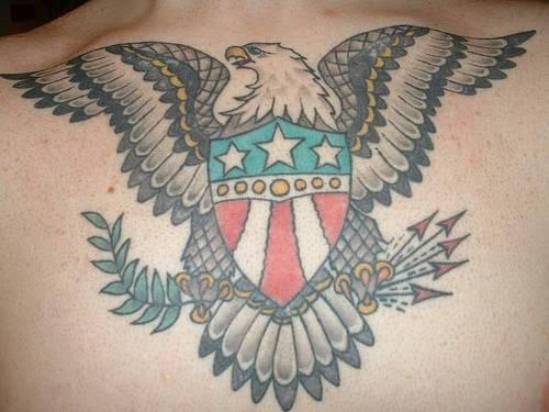 American patriotic eagle tattoo
