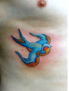 Little blue bird tattoo