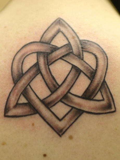 Celtic heart tracery tattoo