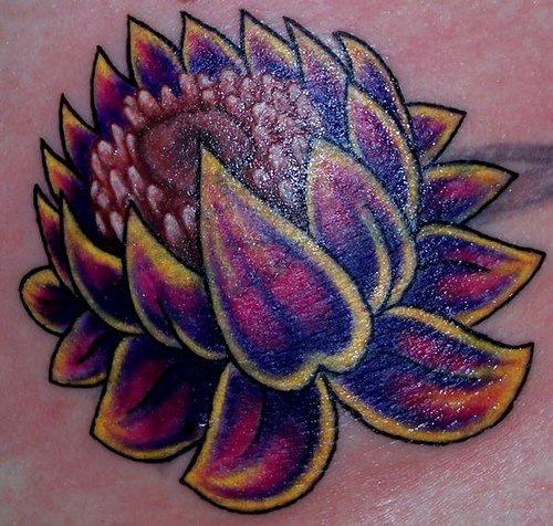 Sacred black lotus tattoo