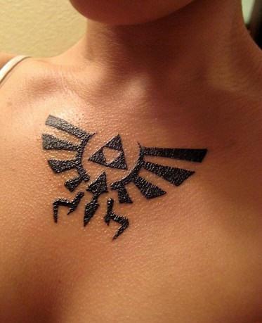 Legend of zelda tattoo in black